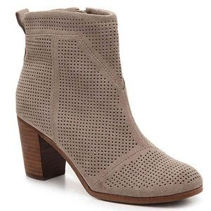 **BRAND NEW** TOMS Lunata Suede Ankle Bootie